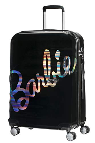 American Tourister Wavebreaker Barbie - Spinner M, Black (Shimmer Power Barbie)