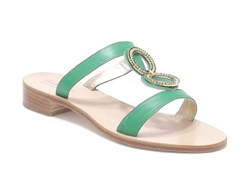 Capri Bijoux sandalo gioiello donna in pelle colore verde nr 36
