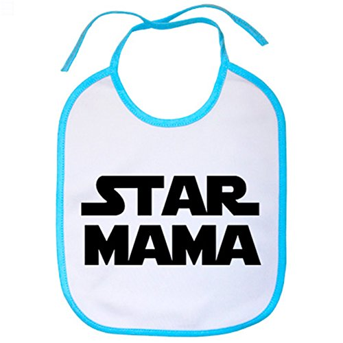 Babero Star Mama madre friki Star Wars - Celeste