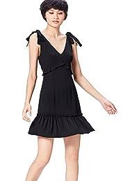 FIND Kleid Damen mit Schluppen und Rüschen