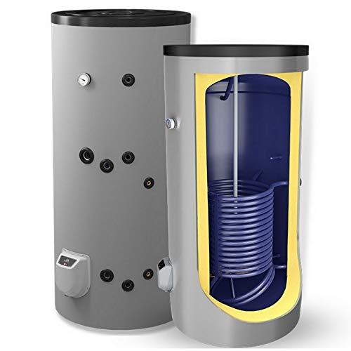 150 200 300 500 750 1000 L Liter kombinierter Warmwasserspeicher mit 1 Wärmetauscher und 3 9 12 kW Elektroheizstab - Standspeicher Boiler Kombispeicher ...