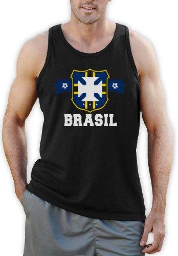 BRASIL Flag Crest Tank Top Schwarz