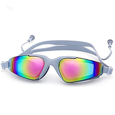 Z-P Unisex Waterproof Anti-fog High-definition Plating Mirror Colorful Lens Swimming Goggles