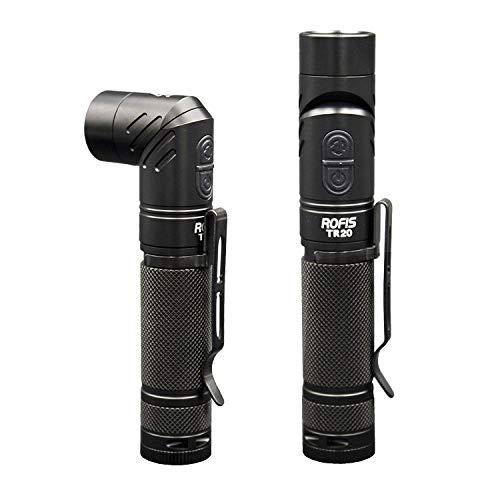 Rofis TR20 Fackel Lampe CREE XP-L HI V3 LED 1100 Lumen USB wiederaufladbare Taschenlampe Kopf tragbare kompakte taktische wasserdichtes Winkellicht mit 18650 akku Batterie