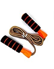 FLYNGO Adjustable Cotton Skipping Jump Rope for Men and Women Weight Loss, Cardio and Jumping Exercise (Multicolor)