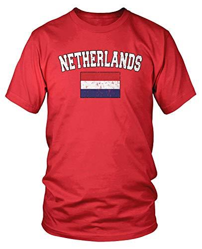Kalifornien Größentabelle Kostüm - Men's Flag of The Netherlands, Dutch Flag T-Shirt L