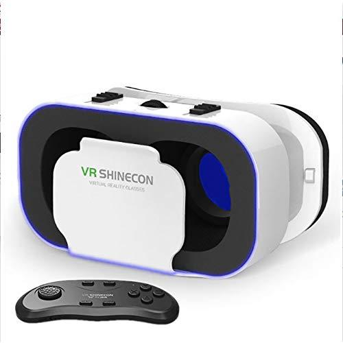 LDJC Virtual Reality Headset, 3D-Brille, HD-360 ° -Panorama-Vibration 3D-Anpassung Doppellinsenbrennweite Komfort-Augenmaske für Büro, Freizeit, Spiel, Freizeit zu Hause