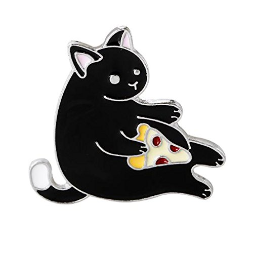 Nikgic Exquisite Niedlichen Cartoon Schwarze Katze Brosche Exquisite Handwerk Hochwertige Legierung Brosche Täglichen Geschäfts Bankett Brosche Zubehör Weibliche Geschenke