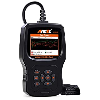 ANCEL EU510 OBD II Diagnosegerät, vollwertiges Gerät zur OBD-Fehlerauslese für das Fahrzeug mit Batterietester Funktion
