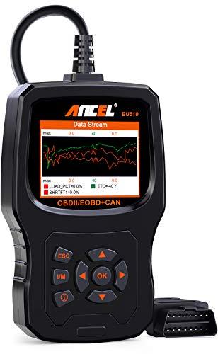 ANCEL EU510 Renforcé OBDII Lecteur de Code Erreur du Moteur Outil Diagnostic Auto Scanner OBD2 Défaut Voiture avec Teste de Batterie pour Véhicules Diesel &...