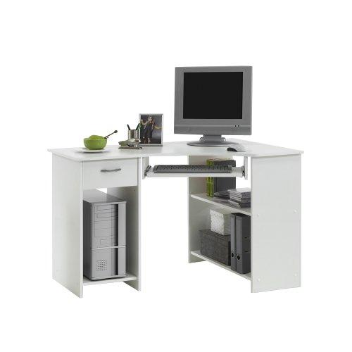 Petit meuble de bureau en angle avec rangements