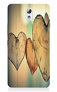 Back Cover for Lenovo Vibe P1M Wooden Heart