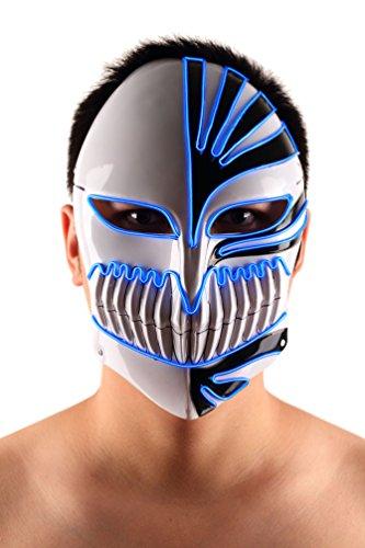 Brinny EL Wire Drahtmaske Leuchten Maske LED Leucht Leuchtmaske Make Up Partymaske mit Batterie Box Kostüme Mask Weihnachten Tanzen Party Nacht Pub Bar Klub 05