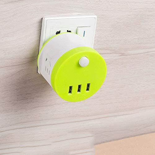 AYAH convertidor multifunción USB Toma de Corriente,Green