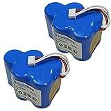 2x Hochleistungs Akku 6V/4500mAh/27Wh für Ecovacs Deebot D62 D62s D63 D65 D66 D68 D73 D73n D76 D77 D79 D650 D660 D680 D710 D720 D730 D760 ersetzt LP43SC3300P5 945-0005 945-0006 945-0024 205-0001