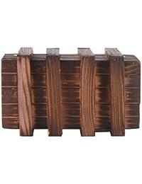 LEORX Caja mágica Brain Teaser dos mágicos madera cajones secretos de regalo caja de joyería juguete