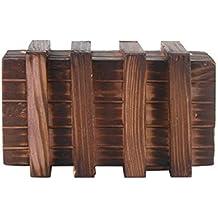 LEORX Caja mágica Brain Teaser dos mágicos madera cajones secretos de regalo caja de joyería juguete del rompecabezas