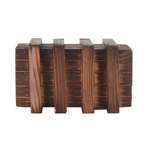 LEORX Caja mágica Brain Teaser dos mágicos madera