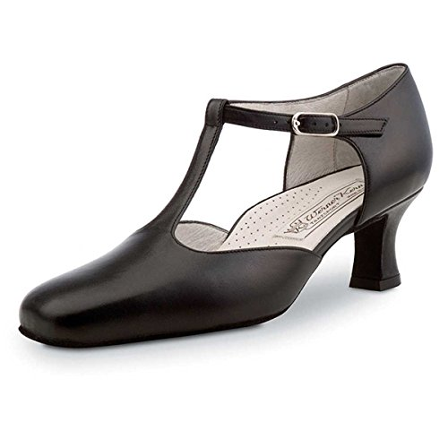 Schuhe Celine (Werner Kern - Damen Tanzschuhe Celine 5,5 Comfort Leder Schwarz [UK 6])