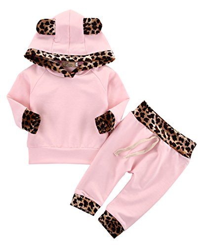 �dchen Warm Hoodie T-Shirt Top + Hose Outfits Set Kleidung Set (0-6 Monat) (Baby Mädchen Outfits)
