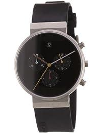 Jacob Jensen 32600 - Reloj de caballero de cuarzo, correa de goma color negro