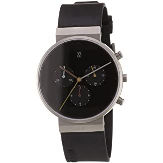Jacob Jensen 32600 – Reloj de Caballero de Cuarzo, Correa de Goma Color Negro