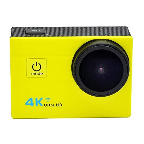 """TBY Action Camera, 4K Sport Kamera WiFi 2\""""Touchscreen 16MP Ultra HD Camcorder Wasserdichte CAM 173 ° Weitwinkel 50M Unterwasser Tauchen Für Fahrrad Klettern Schwimmen Etc,Yellow"""
