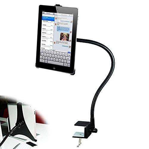 BESTEK Tablet Schwanenhals Halterung Tablet Halterung mit 3 Abziehbaren Klemmen für verschiedenen Tablets, Flexibel 360° Schwenkbar