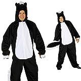 NET TOYS Stinktier Kostüm Skunk Overall 1,75-1,90m Marder Ganzkörperkostüm Ganzkörperanzug JGA