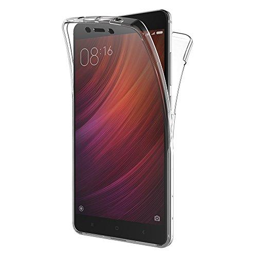 """Funda Xiaomi Redmi Note 4, AICEK Transparente Silicona 360°Full Body Fundas para Xiaomi Redmi Note 4 Carcasa Silicona Funda Case (5.5"""")"""