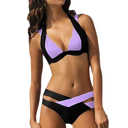 VECDY Damen Bikini, Bikinis Bandage Sexy Badebekleidung Frauen Schwimmen Beach Wear Print Bandage Badeanzug Unterwäsche Badehose