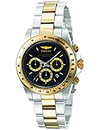 Invicta Speedway Men's Chronograph Quartz Watch with Stainless Steel Gold Plated Bracelet – 9224