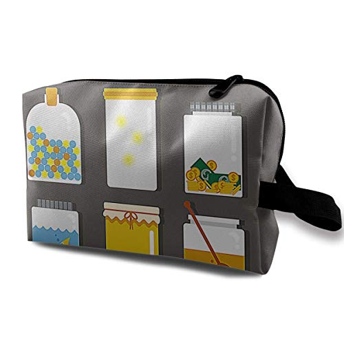 Portable Travel Makeup Bag,Storage Bag Portable Ladies Travel Square Cosmetic Bag ()
