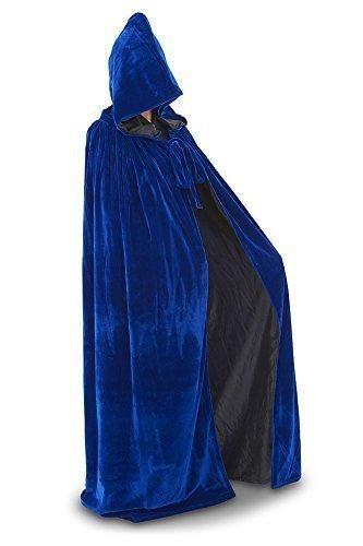 Cape - Various colours UK Seller (Blue Velvet/ Black Silk) ()