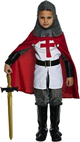 Jungen Hemd Mittelalterlicher Ritter Buchwoche Fancy Dress Lord of Set, rund