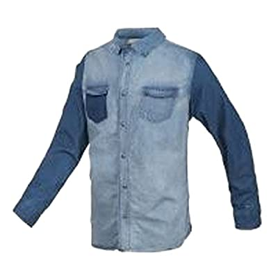 Adidas Neo Mens Designer Denim Button Up Casual Long Sleeve Shirt Top Rrp £45.00