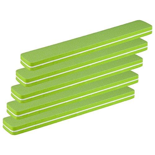 5er-Pack Profi Buffer-Feile Rechteckfeile grün SUPERFLEX Körnung fein 180/180 - Buffer Nagelfeile