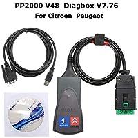 TiooDre OBD2/OBD II, AQV OBD2 Lector de códigos escáner Citroen Peugeot Car Tester