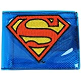 Superman Mens Blue Fat Free Bi-Fold Wallet