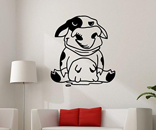 Wandtattoo Kuh lustig Bauernhof sticker Tattoo Tier Tür Auto Aufkleber Wohnzimmer Schlafzimmer Kinderzimmer 1B230