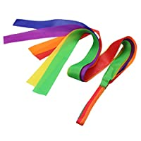 Sharplace Dance Ribbon Gym Rhythmic Art Gym Ballet Streamer Cheerleading Kids Toy Gift