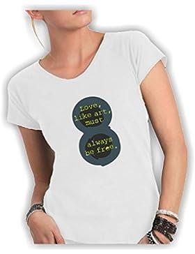 Social Crazy T-Shirt Donna Cot
