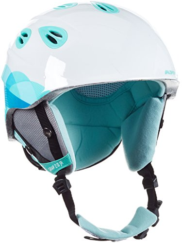 Alpina Unisex - Kinder Skihelm Grap 2.0, mint clouds, 54-57 cm, 9086211