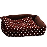 DJVD Pet Bed Cushion Für Katzen Oder Kleine Hunde Mit Genutetem Orthopädischem Schaum, Extra Bequemes Gepolstertes Randkissen Aus Baumwolle Für Verbesserten Schlaf,M(28 * 22 * 6In)