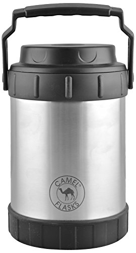 Camel Flasks Stainless Steel Lunch Box, 1.8 Liters