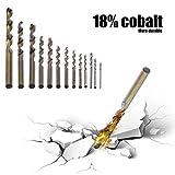 fghdfdhfdgjhh 13Pcs / set Pratico bit di cobalto Set bit multifunzione con 135 ° punti di divisione Set di punte di cobalto auto avviamento