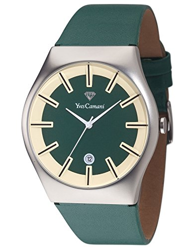 Yves Camani Loann - Reloj para hombre, color verde