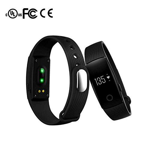 Fitness Armband Bluetooth Herzfrequenz Smart Bracelet,Aktivitäts Tracker Schrittzähler Schlafanalyse Kalorienzähler Anruf/SMS Smart Uhr Freisprechen Anrufe Funktion,für Android/IOS/Samsung/Huawei