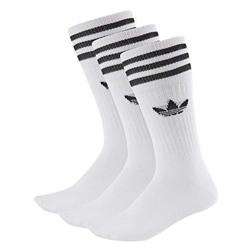 adidas Solid Crew Socks Socken 3er Pack (43-46, weiß/schwarz)