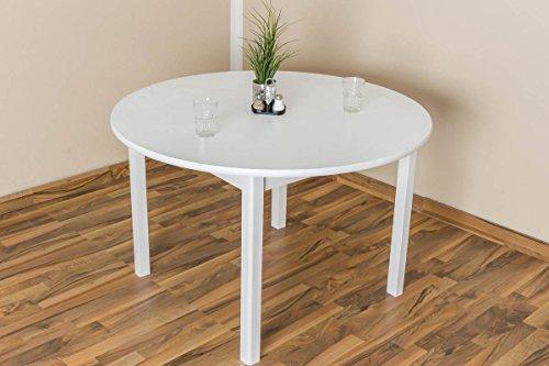 Esstisch rund weiß